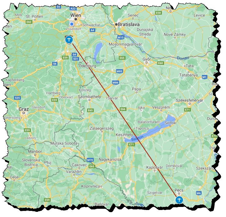 Route nach Pecs