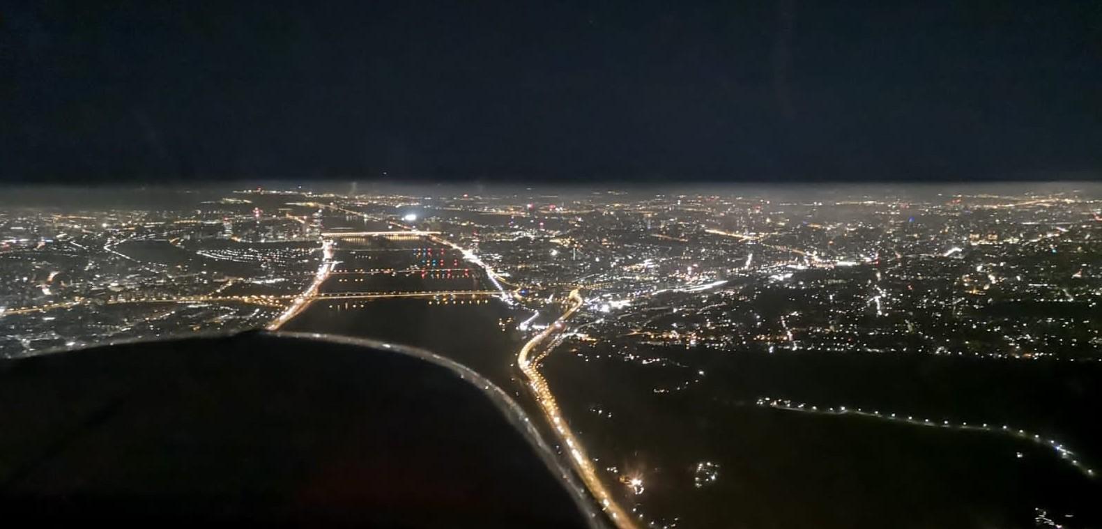 Nachtflug über Wien